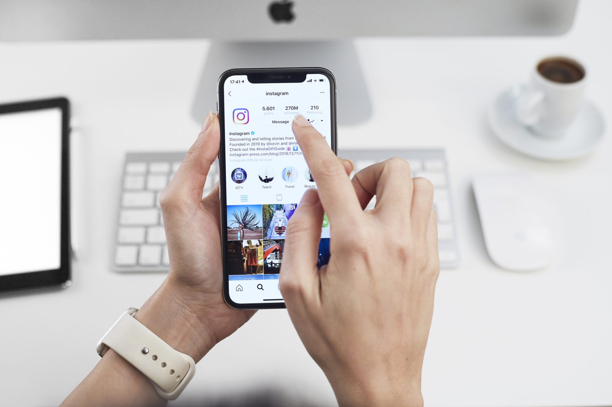 Instagram application on Apple iPhone X