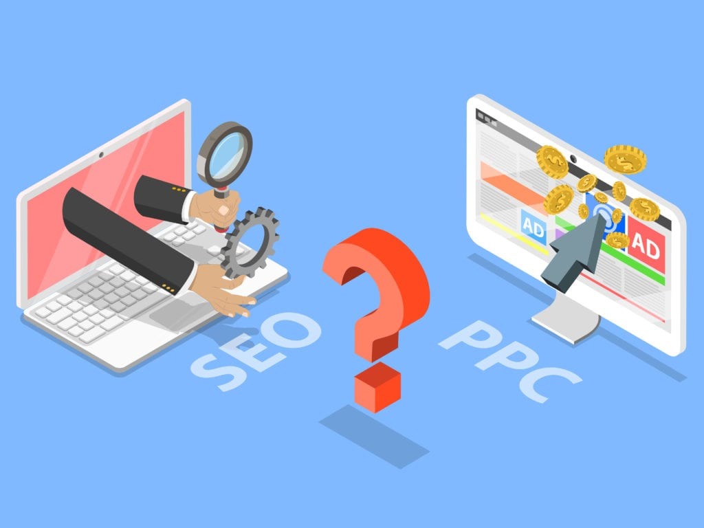 SEO versus PPC animation