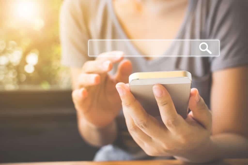 Mobile search optimization concept