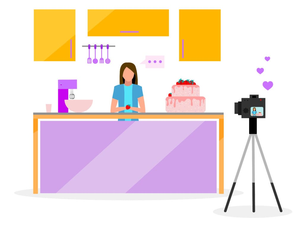Online cooking class animation