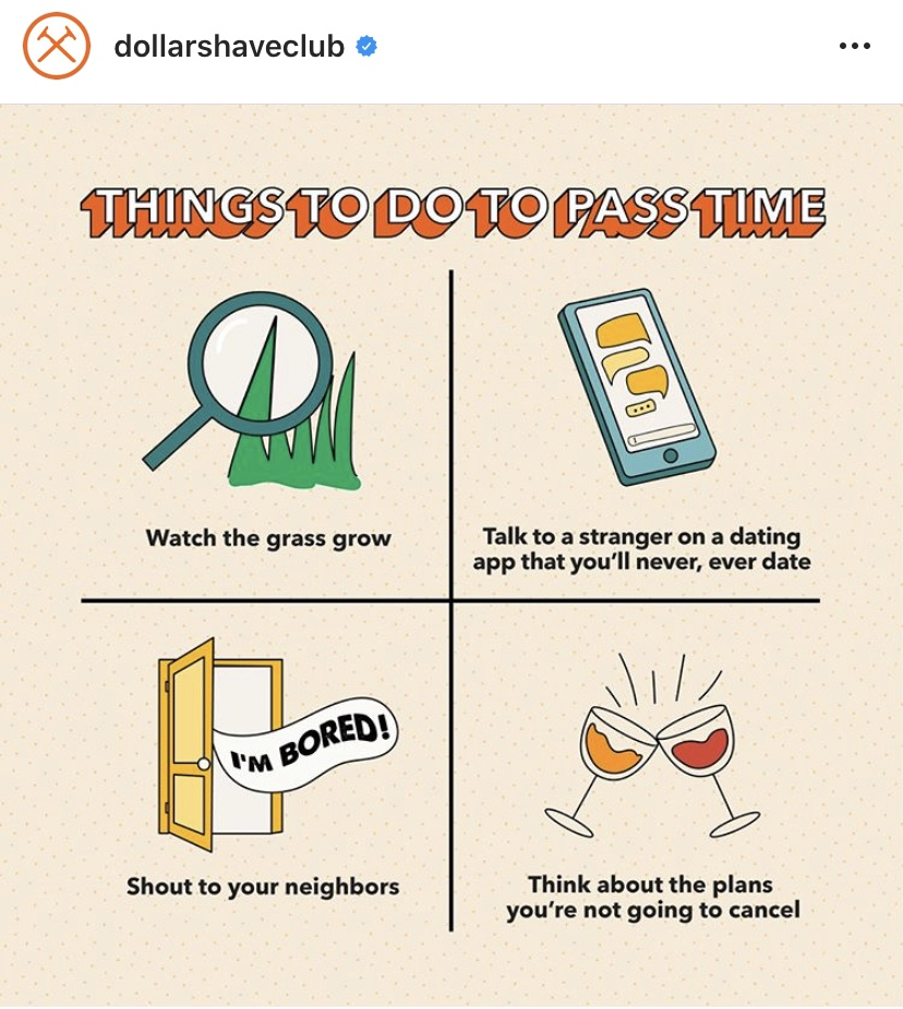 Dollar Shave Club Instagram post