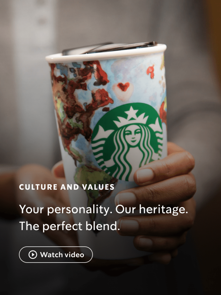 Starbucks Culture and Values brand voice consistency