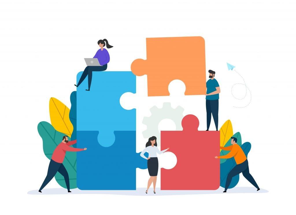 Digital marketing team illustration
