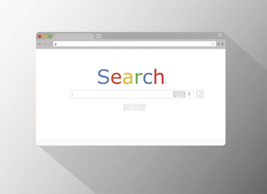 Google search engine browser window