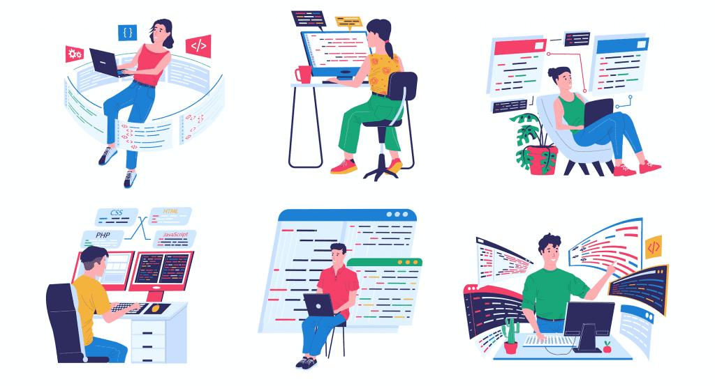 Backend developer illustrations