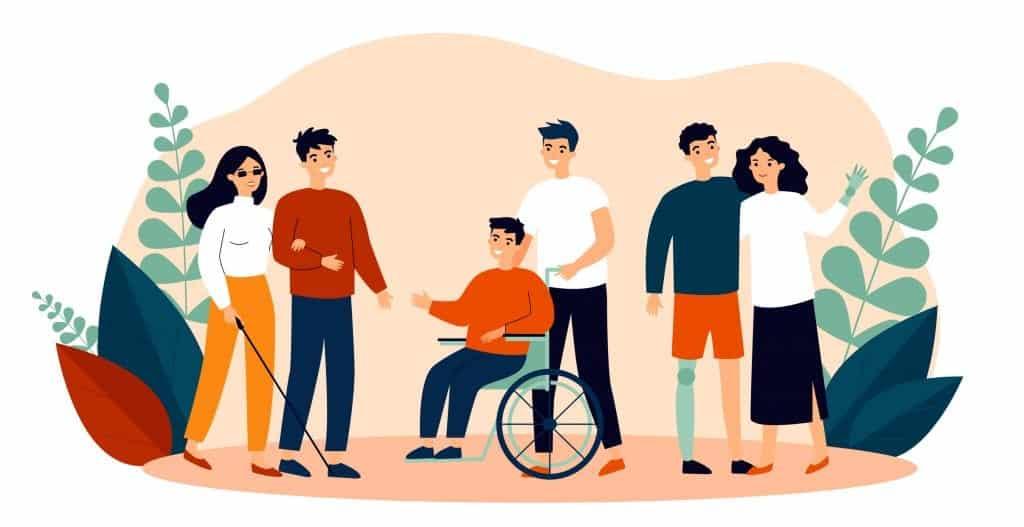 Disabled people illustration